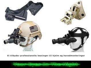 hjelm og hoved montering til kof-1 night vision natkikkert goggle