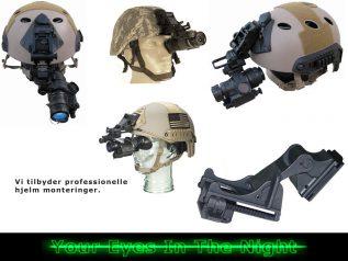 hjelm og hoved montering til kof-2 night vision natkikkert mono goggle