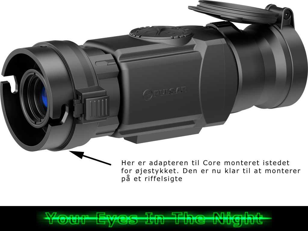 Pulsar Core FXQ50 termisk add on til kikkertsigte – Koflar night vision natkikkert nightvision